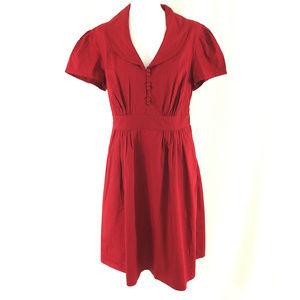 eShakti Dress A Line Short Sleeve Pockets Cotton